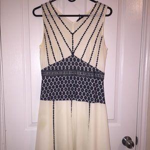 Cream Anthro dress